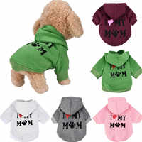 Small Pet dog shirts  Clothes Fashion Costume Puppy Cotton Blend T-Shirt Apparel service dog Hoodie soft clothes drop ship