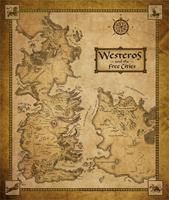 Game Of Thrones Houses Map Westeros And Free Cities Poster Home Decoration Canvas Print 50x75cm Free