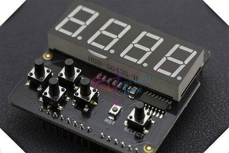 цены DFRobot LED Keypad Shield / Digital Tube Display/Expansion board V1.0, 5V 4 digit 8 segment common cathode I2C drive For Arduino
