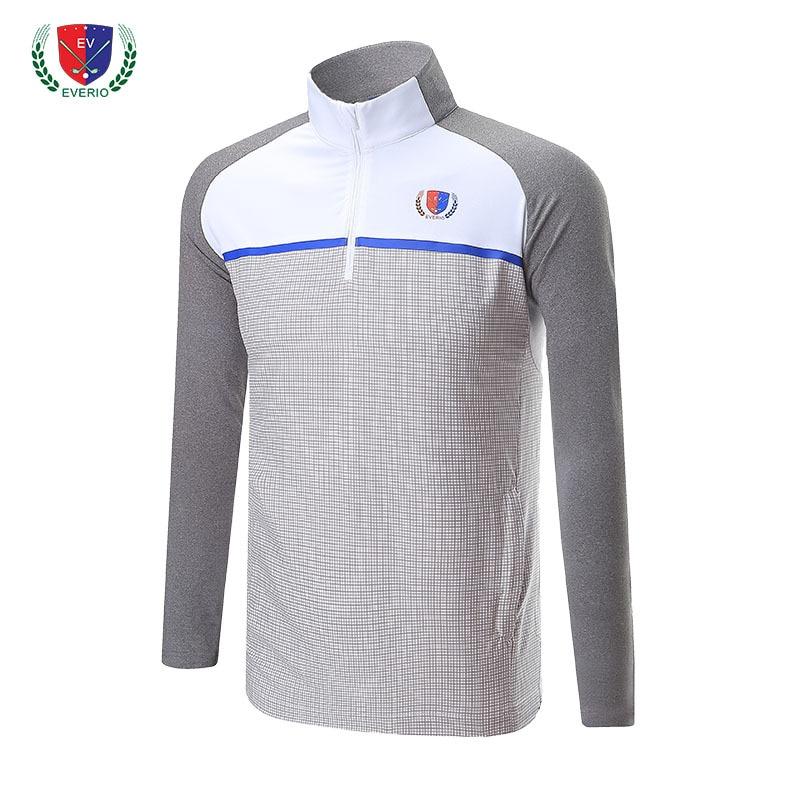Stand Collar Men Golf Shirts Polo T Shirt Sport Clothing Men Outdoor Golf Shirts Soft Professional Golf Training Bottom Shirts