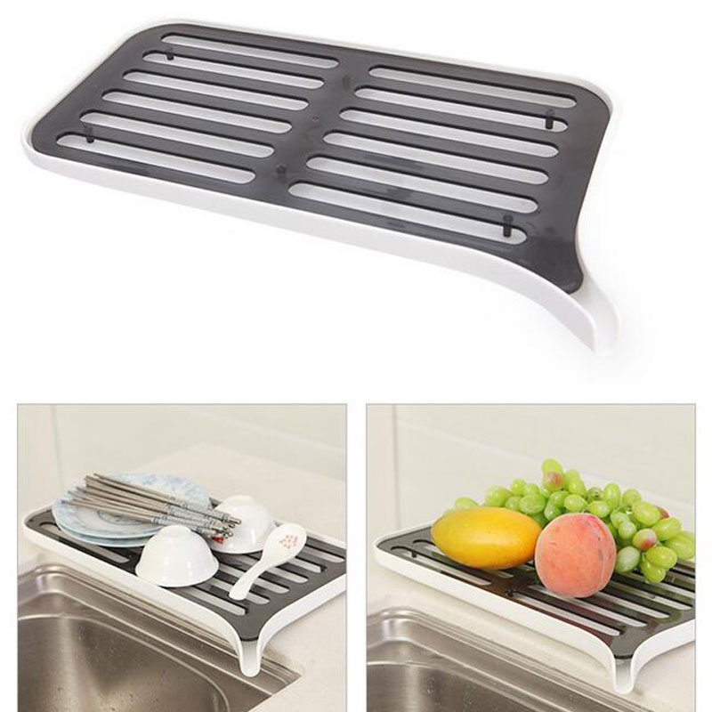 Drain Rack Plastic Dish Drainer Dryer Tray Large Sink Drying Rack Worktop Kitchen Organizer drying Rack For Dishes Fruit