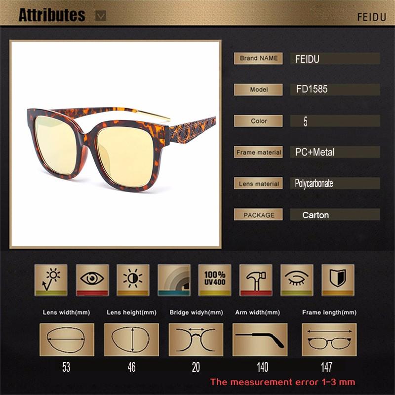 ff0a220e0201 FEIDU Ladies Cat Eye Sunglasses Celebrity Same Paragraph Coating Women Sun  Glasses Retro Hot Selling Couple Models Sunglasses