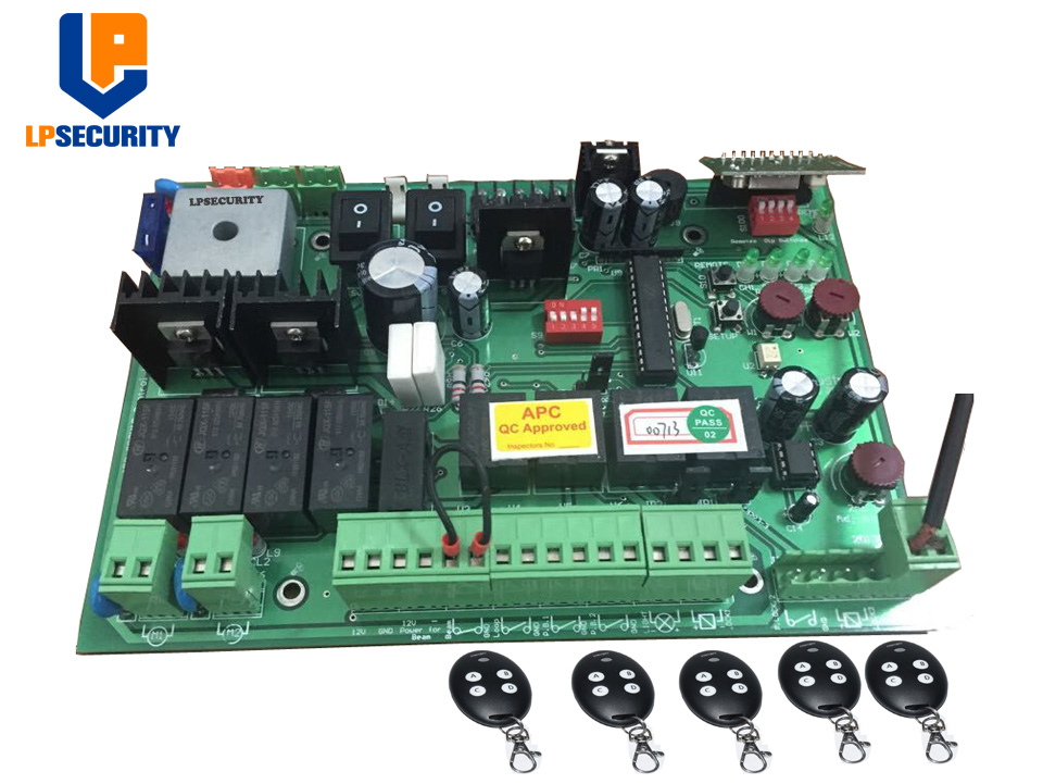 DC 24V automatic dual swing gate control board con 4 transmitters