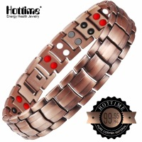 Hottime Double Row 4 IN 1 Bio Elements Energy Magnetic Bracelet Men S Fashion Healing 99