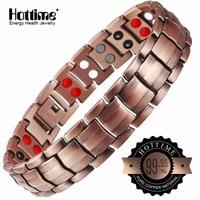 Hottime Double Row 4 IN 1 Bio Elements Energy Magnetic Bracelet Men S Fashion Healing 99