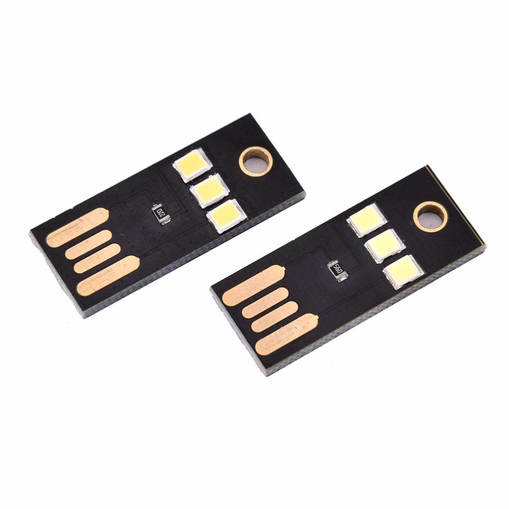 USB Power LED Light Ultra Low Power 2835 Chips Pocket Card Lamp Portable Night Camp Warm/White Mini