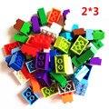 55 unids 2x3 básica alta ladrillos 2*3 6 agujeros compatibles con lepin diy bloques de construcción de juguetes