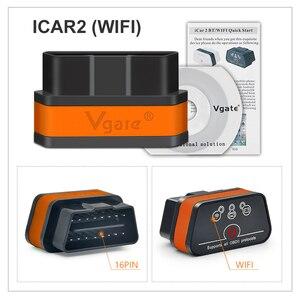 Image 4 - Vgate iCar2 ELM327 Wifi OBD2 Diagnostic Tool for IOS iPhone iPad Android Vgate icar 2 wifi ELM 327 OBD II Code Reader 7 colors