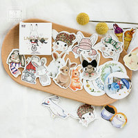(45pcs/Box) Easter bunny rabbit Stickers Pack Kawaii Planner Scrapbooking Sticky Stationery Escolar School Supplies2017 Stationery Stickers