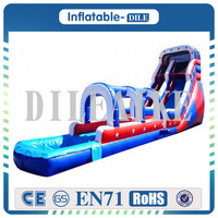 Free Shipping 0.55mm PVC 7m*3.5m*5m Inflatable Water Slide Huge Inflatable Fantasy Pool For Sale