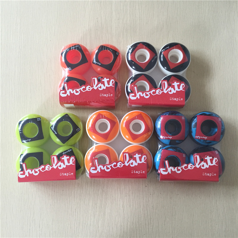 SK8ER CHOCOLATE Staple Skateboard Wheels PU Ruedas 51/53/54mm Skates