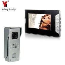 YobangSecurity 7″ TFT Color LCD Display Video Door Phone Visual Intercom Doorbell 1-camera 1-monitor Hands Free IR Night Vision