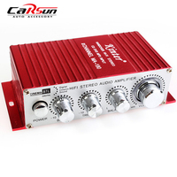 Hot Sale Kinter Mini USB Car Audio Amplifier 2CH Stereo HIFI Amplifier Red Color 12V Auto