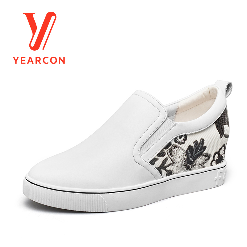 Yearcon women's leather casual shoes for boat shoes sport athletic fashion walking flats shoes 8161ZD29812W