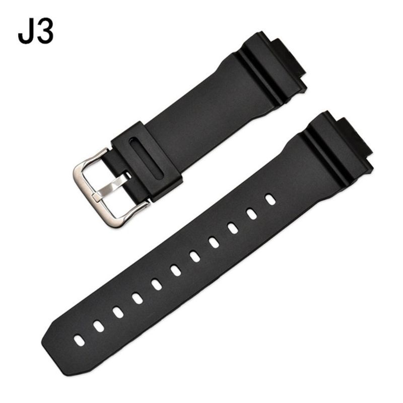 Watchband Wrist Strap Band Slicone Stainless Steel Buckle Adjustable Replacement for 6900 Series