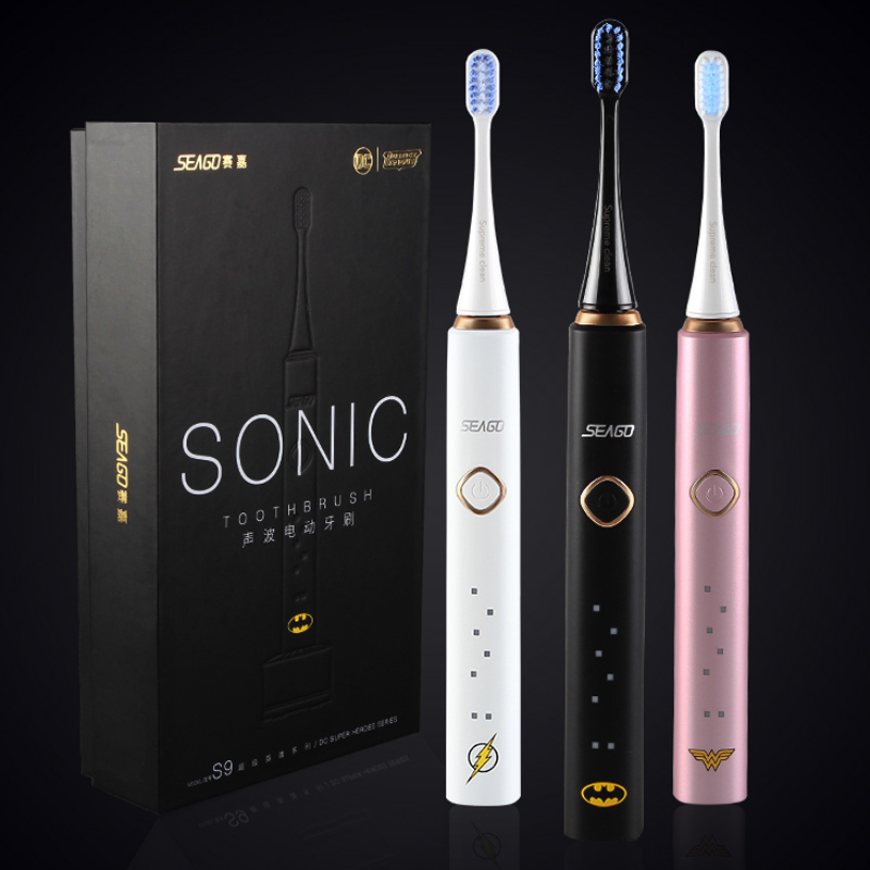 Electric toothbrush adult soft sonic tooth brush waterproof charging home Superman BATMAN MS.Marvel S9 couple toothbrush SEAGO цена и фото
