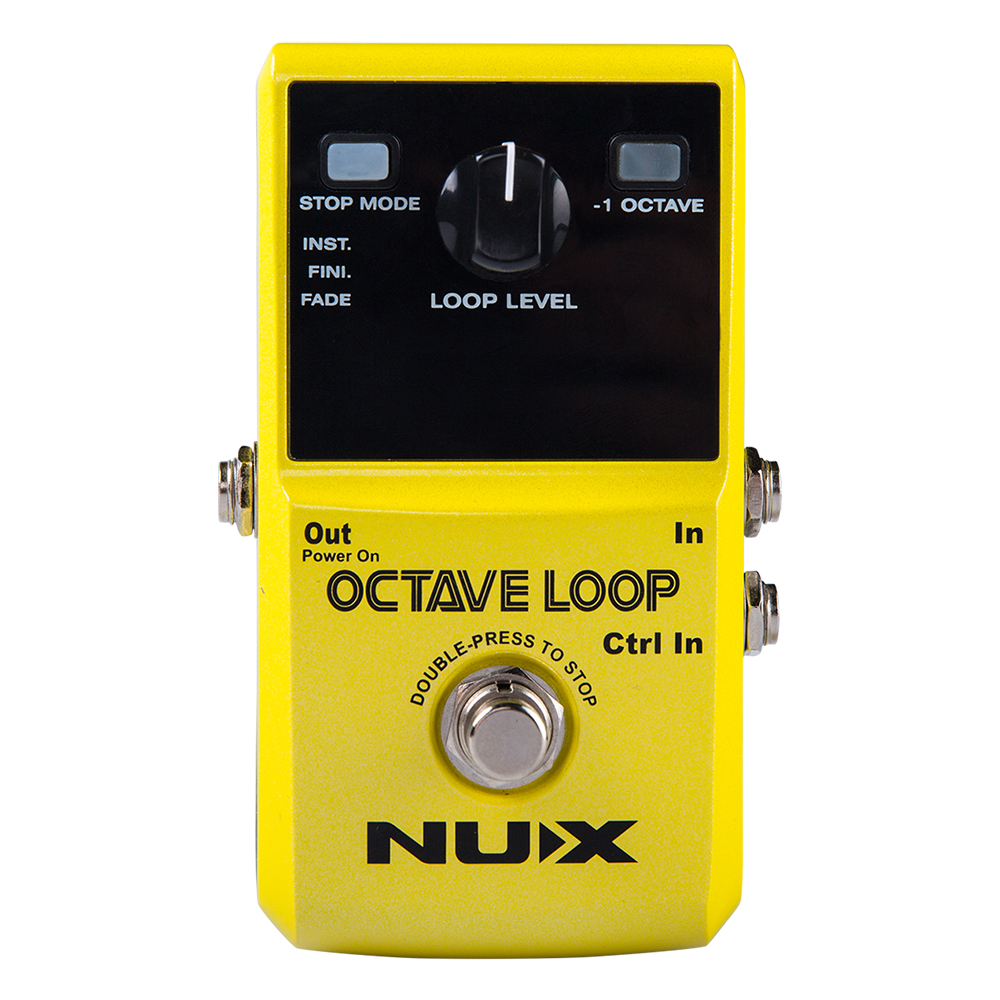 NUX Octave Loop Guitar Accessories Electric Effect Pedal True Bypass Color Yellow nux octave loop looper pedal 1 octave effect infinite layers with bass line true bypass 3 modes guitar single block effector