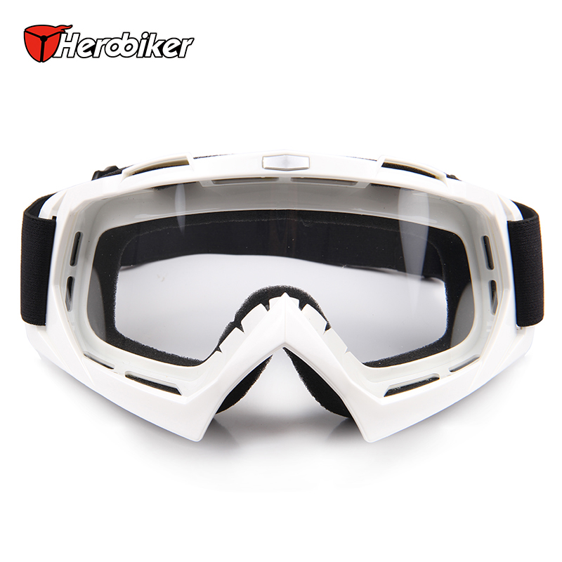 HEROBIKE Motorcycle Off-Road Racing Goggles Winter Skate Sled ATV Eyewear Motocross DH MTB Glasses Single Lens Clears весна инна 31 со звуком с32 о