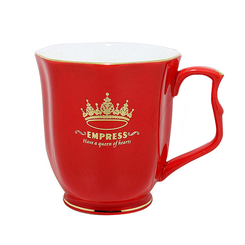 European Style Royal Classic Princess Cups Delicate Bone China Coffee Mugs 24 k Gold Fringe