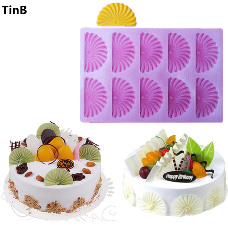 New Shovel Flower Embosser Fondant Cake Baking Sugarcraft Decorating Mold Chocolcate Tools Mold Home Kitchen Accessories Stencil