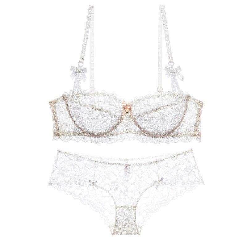 High-end brand  romantic temptation lace bra set  women underwear set push up lade bra and panty set plus size 70-95ABCD