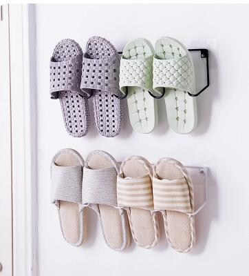 Pasted iron shoe rack. Bathroom slippers rack.. Wall mounted shoes receive the rack.076