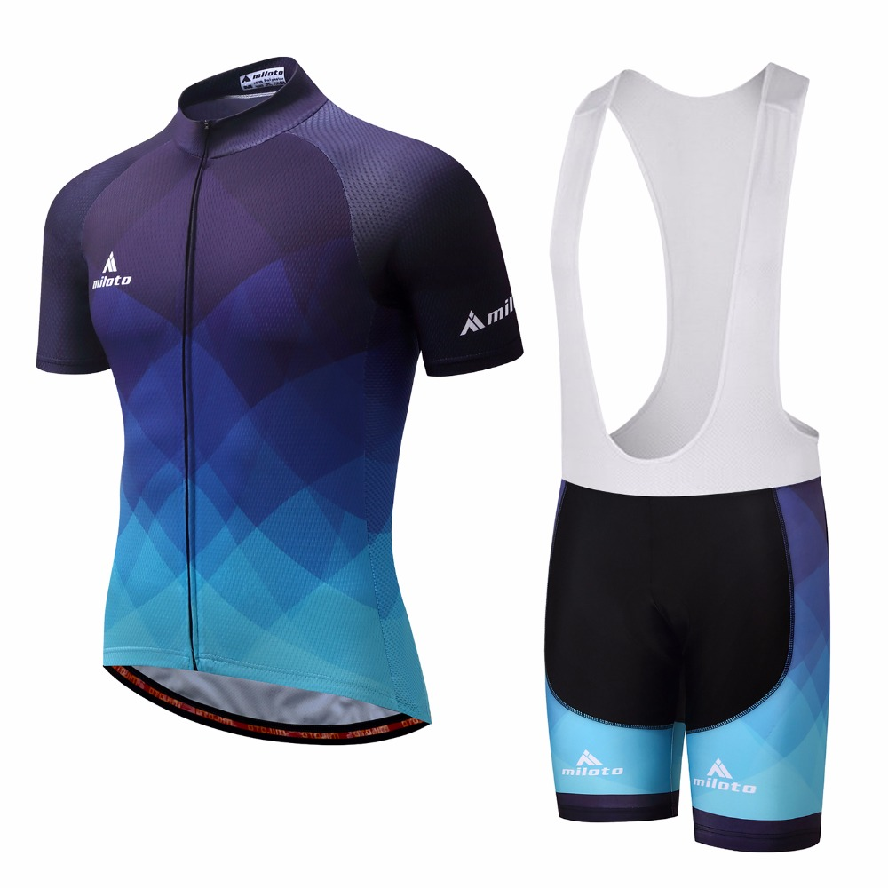 2017 MILOTO Cycling Jersey Sets Men Bike Jersey race team Cycling Clothing short sleeve Bicycle Maillot mtb ciclismo bib shorts xintown men s outdoor cycling jersey sets bib shorts sport short sleeve cycling jersey mountain bike clothing wear suit