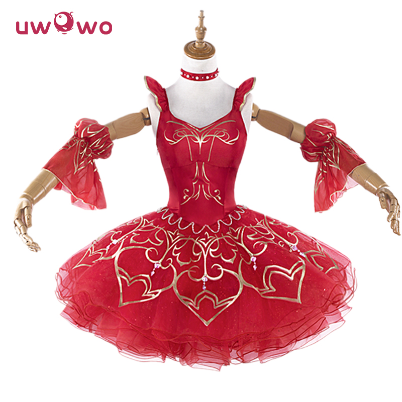 UWOWO Miracle Nikki Women Costume Game Miracle Nikki Uwowo Cosplay Redshoes Dress Kawaii Costume Girls Cosplay