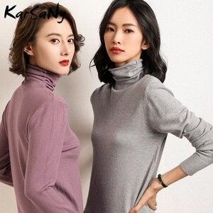 Image 2 - Kış kaşmir kazak kadınlar yün kazak kadın beyaz kaşmir balıkçı yaka kazak kazak yumuşak kış kadın kazak