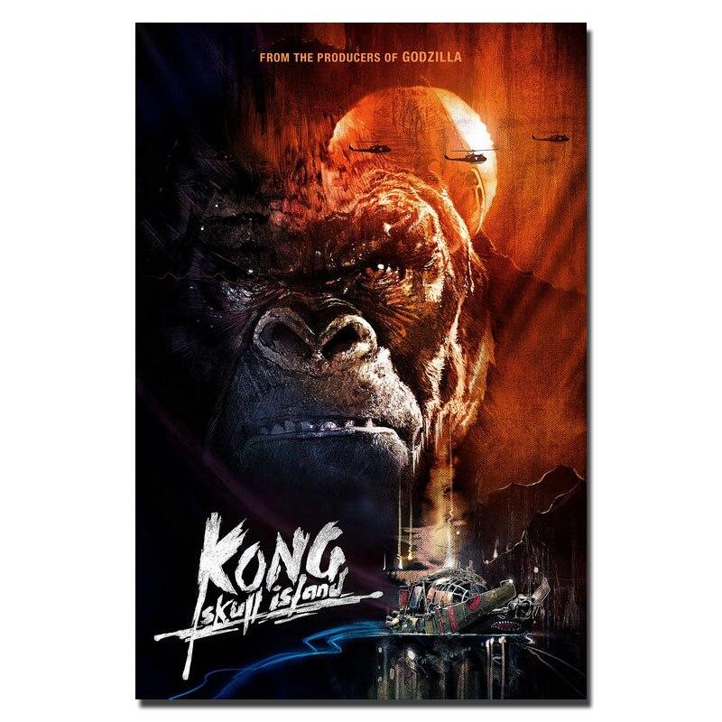 2017 Nieuwe Kong Schedel Eiland Movie Zijde Of Canvas Poster King Kong 24x43 13x24 Inch Foto Voor Rom Decor (klik Om Meer)-7 Noch Te Hard Noch Te Zacht