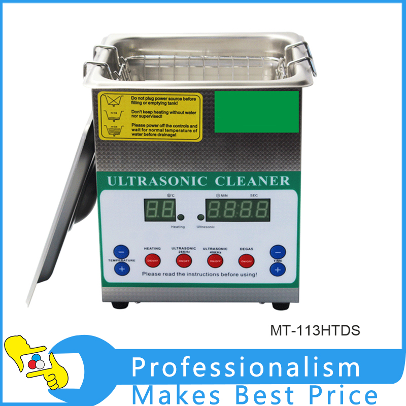 Dual-power MT-113HTDS Digital Ultrasonic Cleaner Bath Electronic Components Jewelry Glasses Circuit Board Cleaning Machine digital 3 2l ultrasonic cleaner parts electronic dental instrument tanks glasses circuit board injectors 3l washer heater timer
