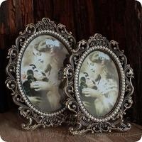 European classical Oval 6/7inch photo frame baby picture frame metal frame for photos frames for painting home decoration XC061