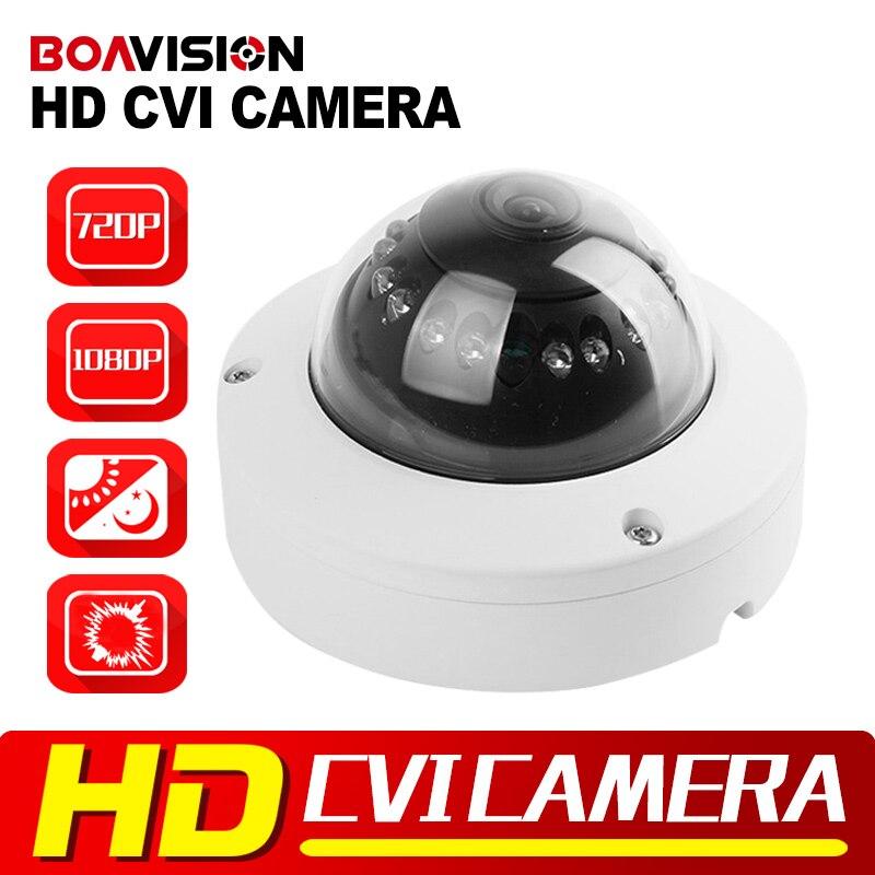 BOAVISION 2MP HD CVI Camera 720P 10M IR Night Vision 3.6mm Lens Vandal Mini Dome CCTV 1.0MP CVI Camera 1080P For CVR DVR 1 2 9 1megapixel 720p 8mm lens 2 super ir led hd cvi camera