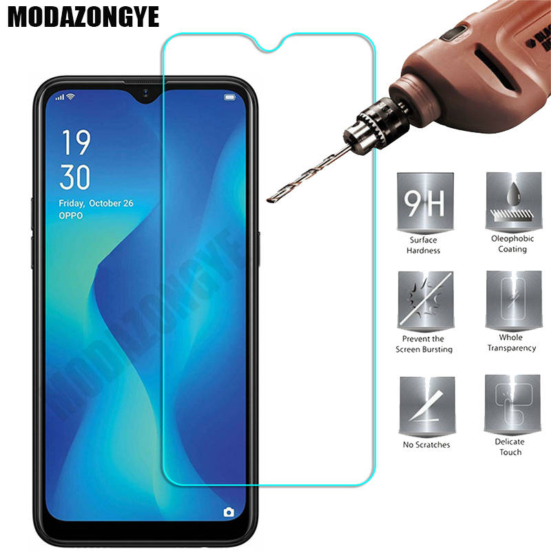 2 Pcs Screen Protector OPPO A1K Tempered Glass OPPO A1K A 1K OPPOA1K CPH1923 Glass OPPO A1K Protective Film