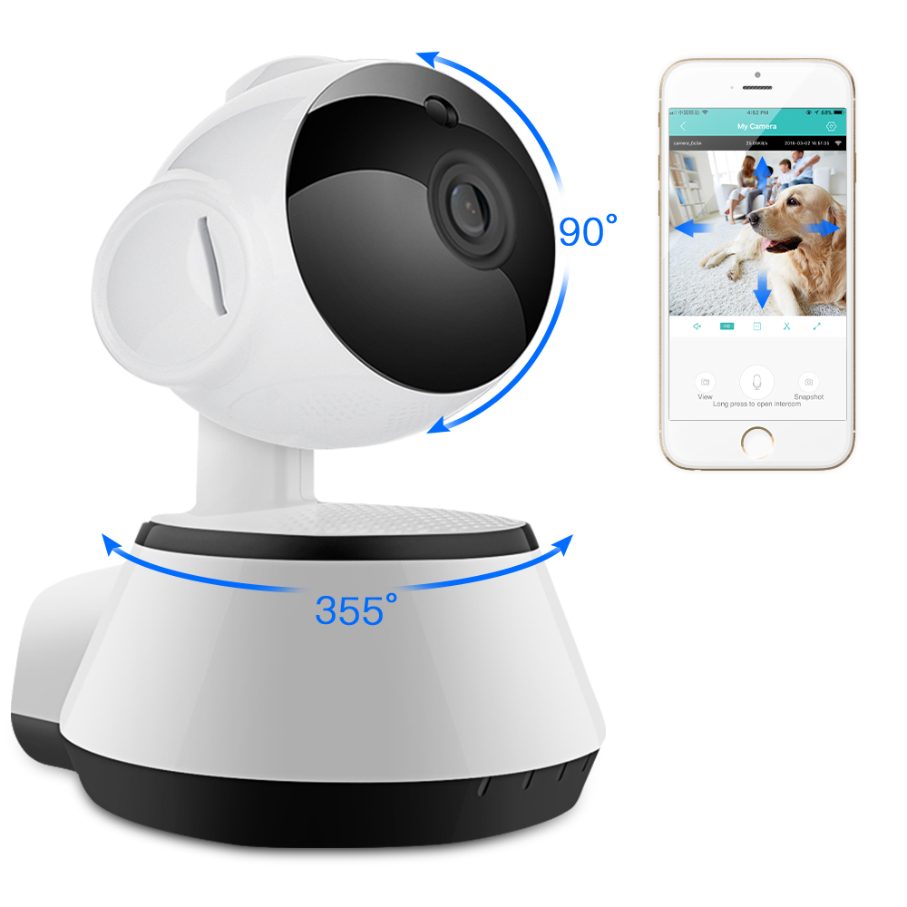 SDETER 2MP 1080P WIFI Camera IP Wireless Home Surveillance Security CCTV Camera IR Night Vision Baby Monitor Two Way Talk WIFI