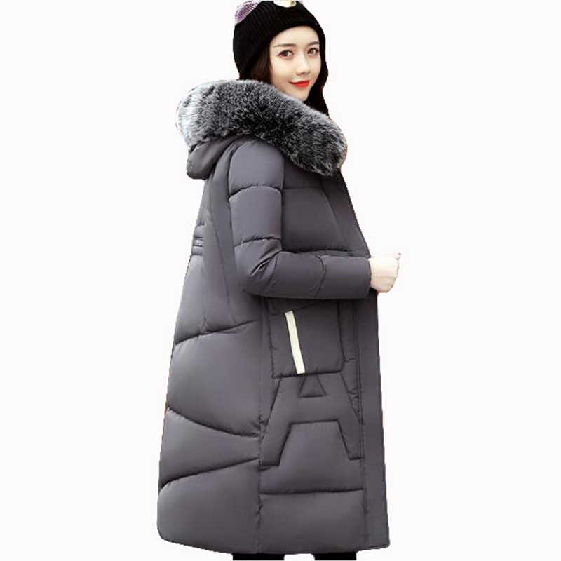 New Winter Coat Women 2017 Thick Warm Winter Jackets Female Fur Collar Hooded Long Parka Coat Plus Size 3XL Outerwear QH0517 2pcs waterproof white and yellow car headlight cob led daytime running lights drl fog lights with turn signal light in russia