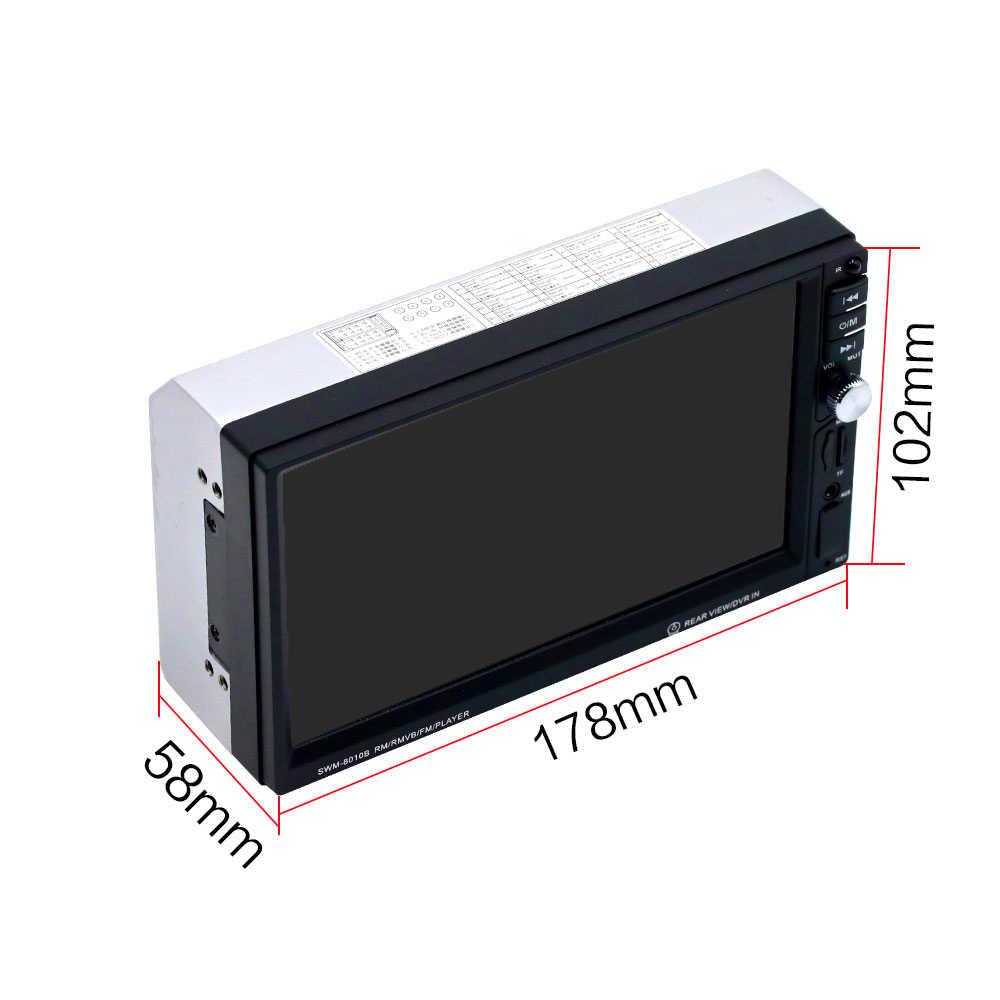 """NoEnName_Null 2din カーマルチメディアプレーヤー SWM-8010B オーディオステレオラジオ 7 """"インチ HD タッチスクリーンのデジタル表示 BluetoothAutoradio"""