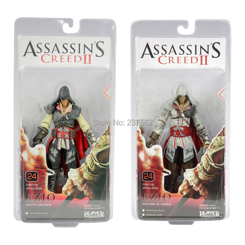 "Hotsell 2 style 7""18cm high quality NECA Assassin's Creed <font><b>II</b></font> EZIO PVC <font><b>Action</b></font> christmas <font><b>figures</b></font> collectible <font><b>action</b></font> <font><b>figures</b></font> toys"