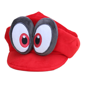 Game Super Mario Odyssey Hat Adult Kids Anime Cosplay Caps Super Mario Bros Plush Toy Dolls Hallowen Party Props(China)