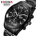BOSCK 2016 Relogio Masculino Japón Movt El Acero Inoxidable Militar Reloj Deportivo Hombre Digital Moda Casual Negro Impermeable Relojes Digitales