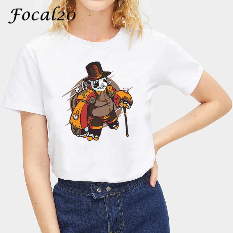 Focal20 原宿おかしい動物プリント女性の Tシャツトップ Tシャツ半袖クルーネックルーズ夏春女性 Tシャツトップ tシャツ