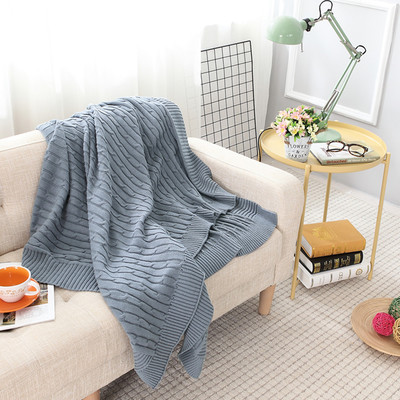 Lyn Gy Cotton Knitted Blanket Sofa
