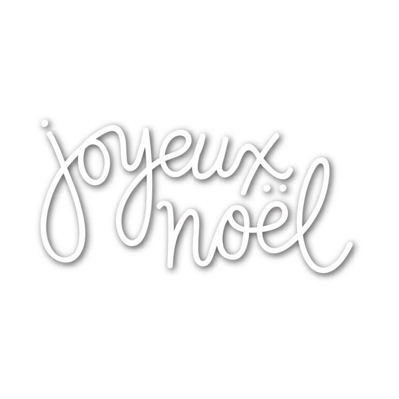 quot Joyeux Noel quot French Words Metal Cutting Dies for Scrapbooking DIY Paper Christmas Cards Craft Making Decor Stencil New 2019 in Cutting Dies from Home amp Garden