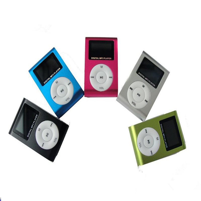 Mini Lettore LCD-Bildschirm Mp3-Musik-Musik-Clip-Player-Reproduktor mp3 Kinder Speler Aux usb digitale Sport-MP3-Player-Lautsprecher heiß