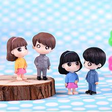 2019PVC Couples in Chinese Tunic Suit Figurines Micro Landscape Miniature Ornaments(China)