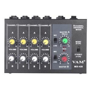Image 5 - Ammoon BIN 228 Ultra kompakte Mischen Konsole Geräuscharm 8 Kanäle Metall Mono Stereo Audio Sound Mixer mit power Adapter Kabel
