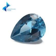 Размер 3x5 ~ 10x12 мм грушевидной формы 120 # синий камень с