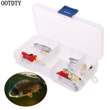 OOTDTY 10 Pcs/set Fishing Baits Sequins Set Artificial Lure Hook With Box Fish Scale Sequin Bait Tool Tackle Accessories