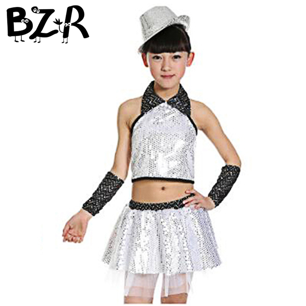 Children's Performance Dresses Girls Jazz Dance Costumes Primary School Students Modern Stage Clothing Magic Performers Wear