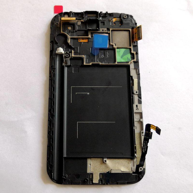 Amoled pour samsung Galaxy Note 2 n7100 n7105 Amoled écran d'affichage avec écran tactile en verre numériseur cadre AssemblyFor samsung note2